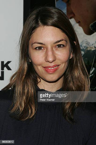 Director Sofia Coppola attends the Focus Features Premiere of Brokeback Mountain at the Loews Theater on December 6 2005 in New York City
