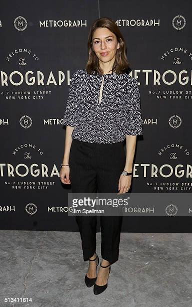 Director Sofia Coppola attends the Metrograph opening night at Metrograph on March 2 2016 in New York City