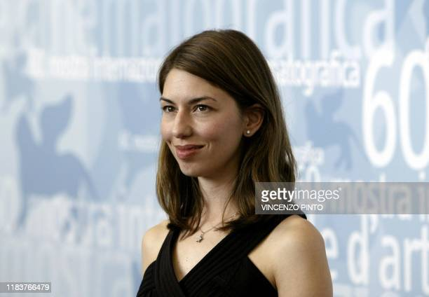 US director Sofia Coppola daughter of Francis Ford Coppola poses during a photo call at Venice Lido 31 August 2003 Coppola is in Venice with her...