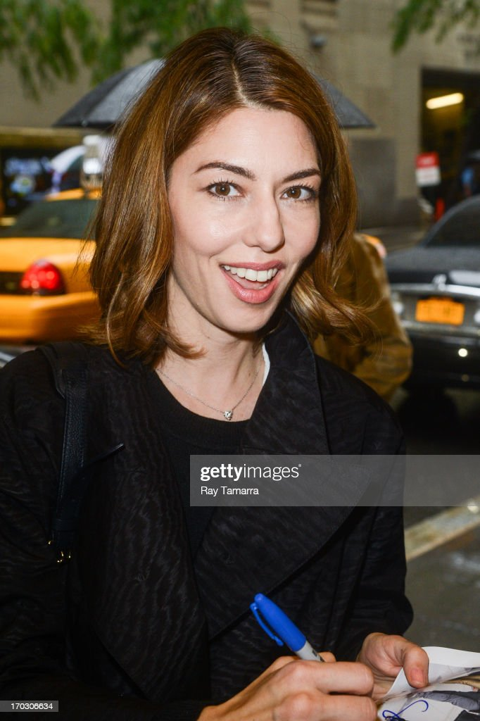 Director Sofia Coppola enters the 'Late Night With Jimmy Fallon' taping at the NBC Rockefeller Center Studios on June 10, 2013 in New York City.