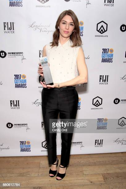Director Sofia Coppola poses with an award backstage during IFP's 27th Annual Gotham Independent Film Awards on November 27 2017 in New York City