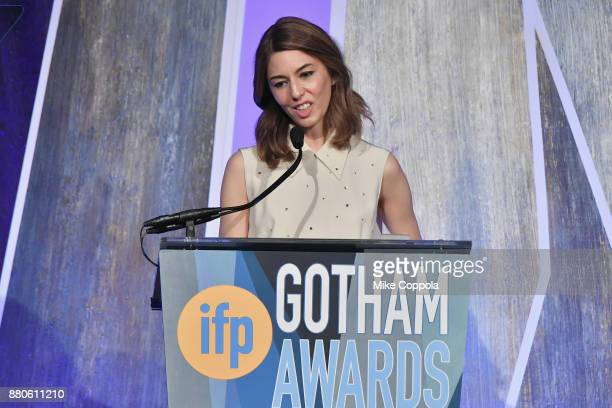 Director Sofia Coppola speaks onstage during IFP's 27th Annual Gotham Independent Film Awards on November 27 2017 in New York City