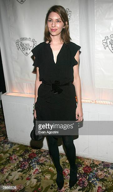Director Sofia Coppola winner for the Special Filmmaking Achievement award attends the National Board Of Review Of Motion Pictures 2003 Annual Awards...
