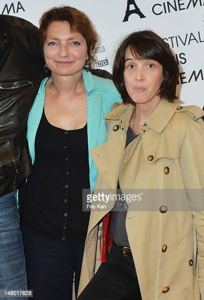 Director Solveig Anspach and actress Florence Loiret Caille attend 'The Queen of Montreuil' Premiere Festival Paris Cinema 2012 at the MK2...
