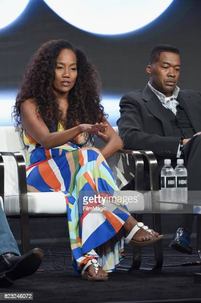 Director Sonja Sohn and Baltimore Cheif of Police Melvin Russell speak onstage during the HBO Summer TCA 2017 at The Beverly Hilton Hotel on July 26...