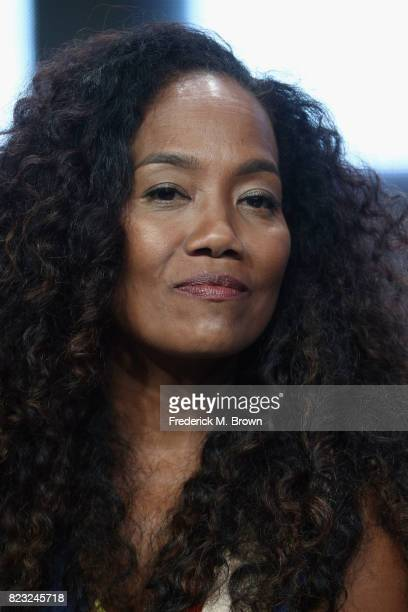 Director Sonja Sohn of 'Baltimore Rising' speaks onstage during the HBO portion of the 2017 Summer Television Critics Association Press Tour at The...