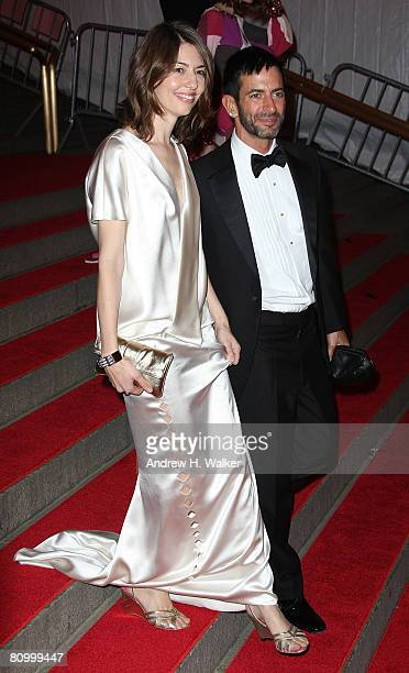 Director Sophia Coppola and designer Marc Jacobs depart from the Metropolitan Museum of Art Costume Institute Gala Superheroes Fashion and Fantasy...
