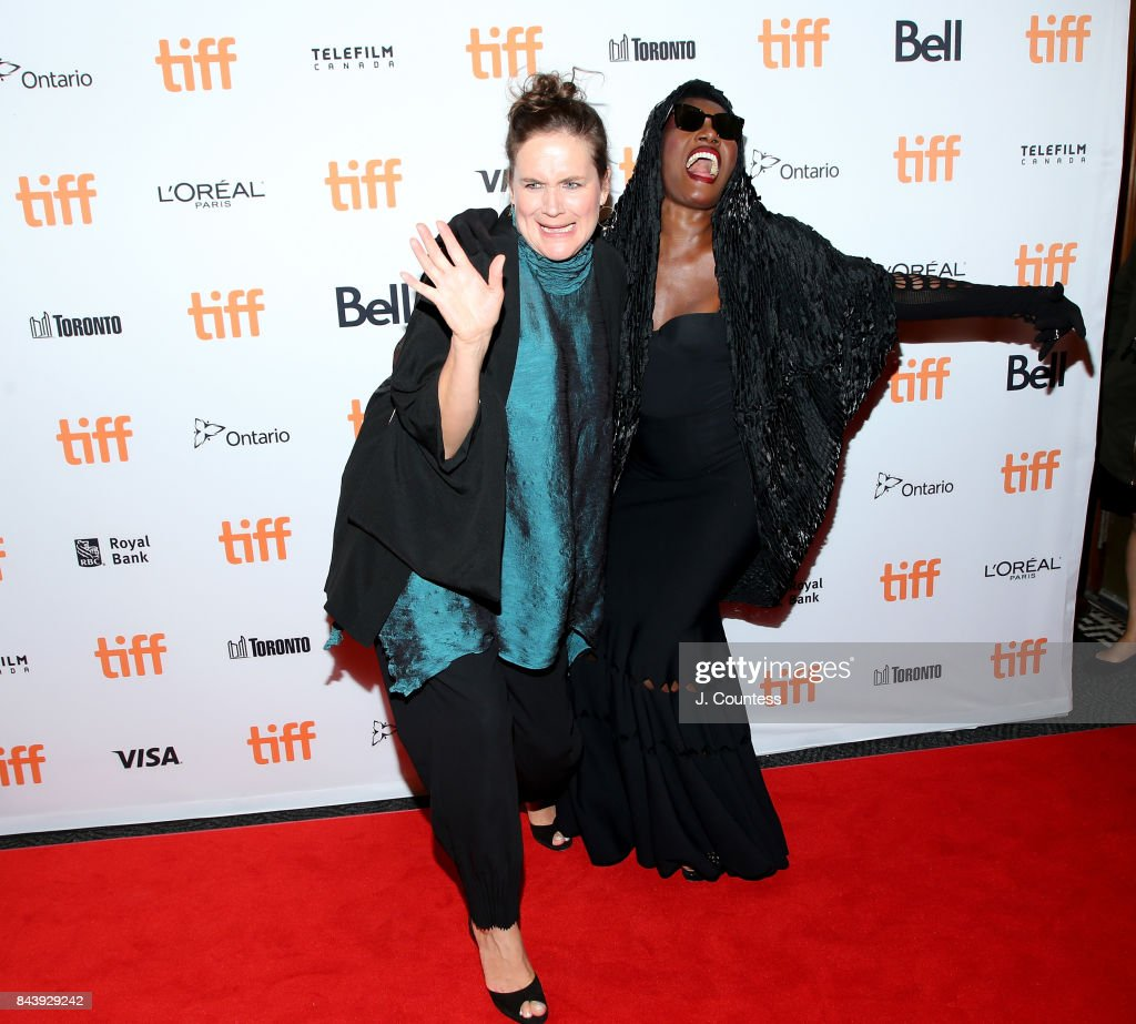Director Sophie Fiennes and singer/musician Grace Jones attend the 'Grace Jones: Bloodlight And Bami' premiere during the 2017 Toronto International Film Festival at The Elgin on September 7, 2017 in Toronto, Canada.