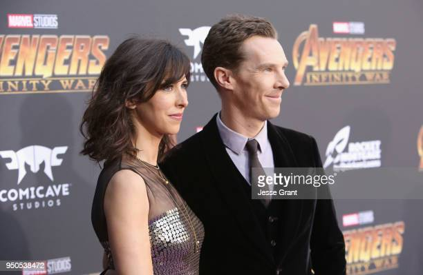 Director Sophie Hunter and actor Benedict Cumberbatch attend the Los Angeles Global Premiere for Marvel Studios' Avengers Infinity War on April 23...