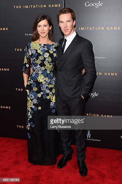 Director Sophie Hunter and Actor Benedict Cumberbatch attend the The Imitation Game New York Premiere at Ziegfeld Theater on November 17 2014 in New...
