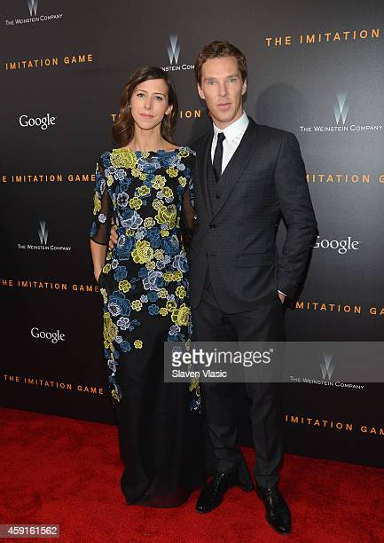 Director Sophie Hunter and actor Benedict Cumberbatch attend the 'The Imitation Game' New York Premiere at Ziegfeld Theater hosted by Weinstein...