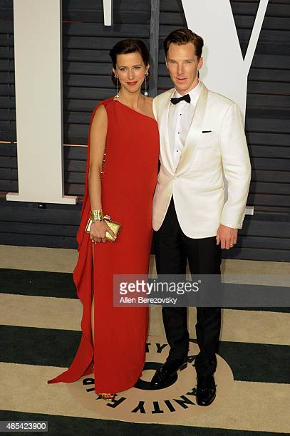 Director Sophie Hunter and Benedict Cumberbatch attends the 2015 Vanity Fair Oscar Party hosted by Graydon Carter at Wallis Annenberg Center for the...