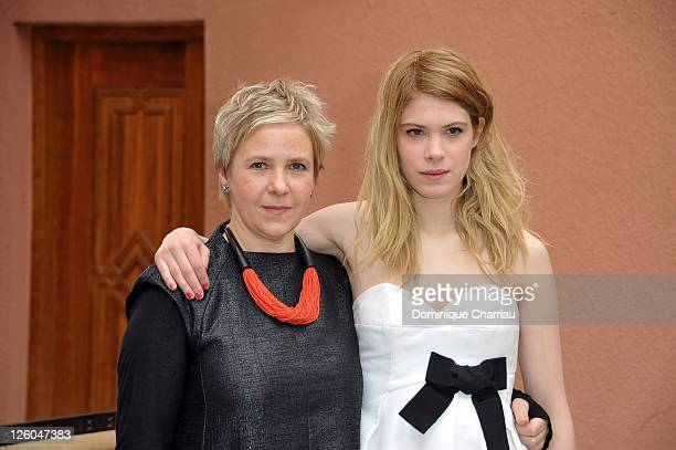 """Director Sophie Schoukens and Actress Hande Kodja pose at the """"Mareike, Marieke"""" photocall during the 10th Marrakech Film Festival on December 8,..."""