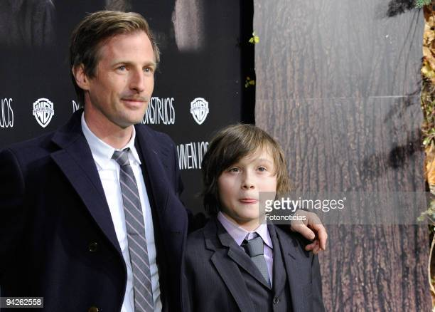 Director Spike Jonze and actor Max Records attend the premiere of ''Where The Wild Things Are'' at Callao cinema on December 10 2009 in Madrid Spain