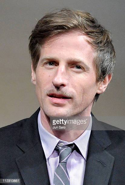 Director Spike Jonze attends 'Where the Wild Things Are' press conference at the RitzCarlton Hotel on December 14 2009 in Tokyo Japan The film will...