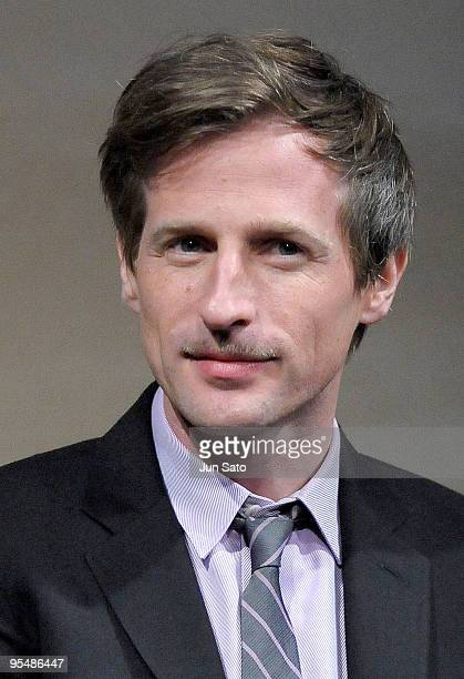Director Spike Jonze attends 'Where The wild Things Are' press conference at The Ritz Carlton Hotel on December 14 2009 in Tokyo Japan The film will...