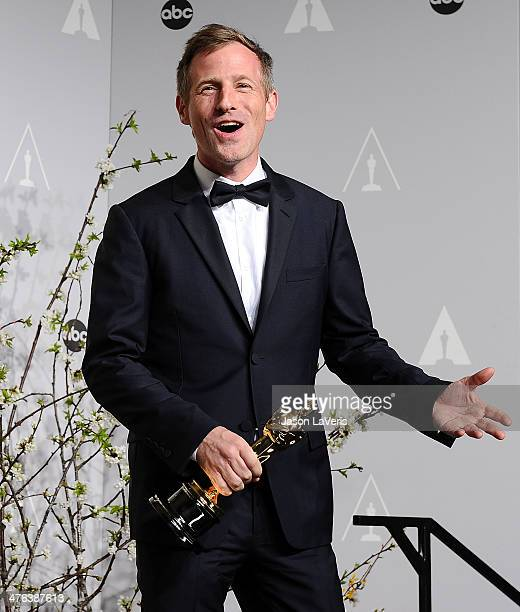 Director Spike Jonze poses in the press room at the 86th annual Academy Awards at Dolby Theatre on March 2 2014 in Hollywood California
