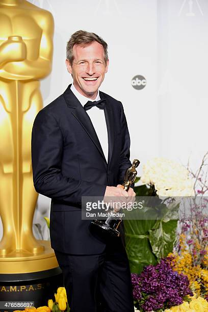 Director Spike Jonze poses in the press room at the 86th Annual Academy Awards at Hollywood Highland Center on March 2 2014 in Los Angeles California