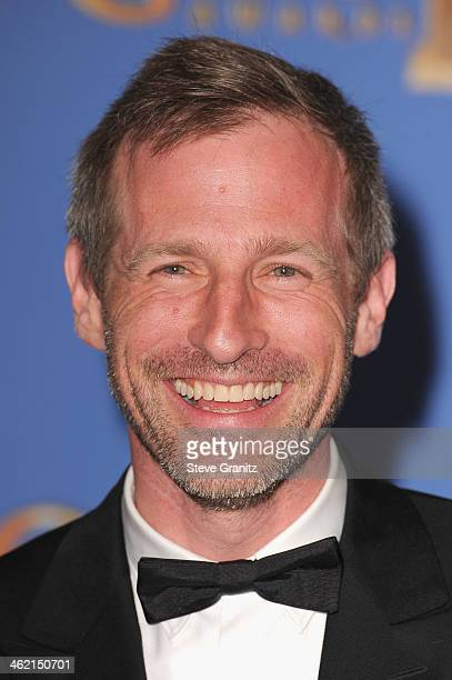 Director Spike Jonze poses in the press room during the 71st Annual Golden Globe Awards held at The Beverly Hilton Hotel on January 12 2014 in...
