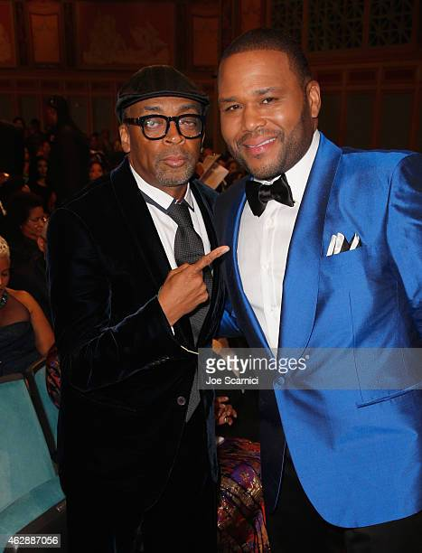Director Spike Lee and actor Anthony Anderson attend the 46th NAACP Image Awards presented by TV One at Pasadena Civic Auditorium on February 6 2015...