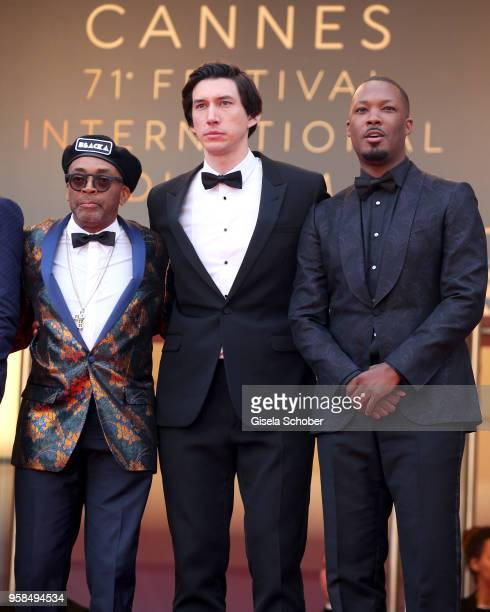 Director Spike Lee and actors Adam Driver and Corey Hawkins attend the screening of 'Blackkklansman' during the 71st annual Cannes Film Festival at...