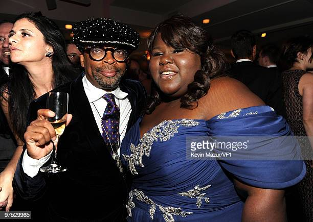 Director Spike Lee and actress Gabourey Sidibe attend the 2010 Vanity Fair Oscar Party hosted by Graydon Carter at the Sunset Tower Hotel on March 7,...