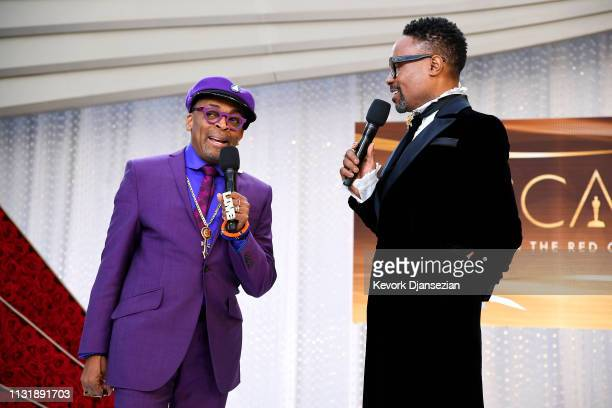 Director Spike Lee and Billy Porter attend the 91st Annual Academy Awards at Hollywood and Highland on February 24 2019 in Hollywood California