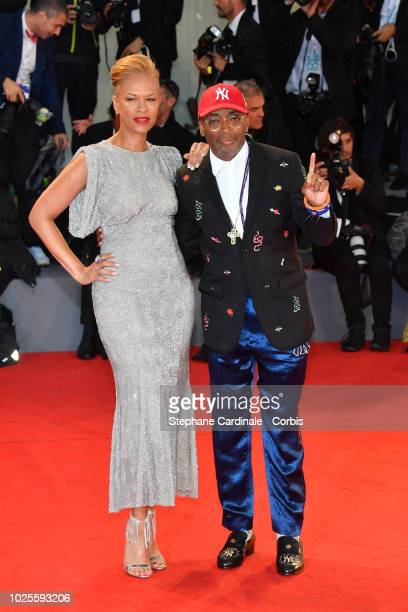Director Spike Lee and his wife producer Tonya Lewis Lee walk the red carpet ahead of the 'A Star Is Born' screening during the 75th Venice Film...