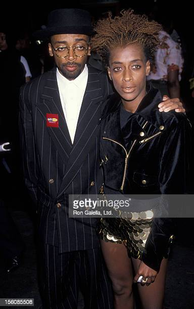 Director Spike Lee and sister Joi Lee attending the premiere of 'Mo' Better Blues' on July 23 1990 at the Ziegfeld Theater in New York City New York