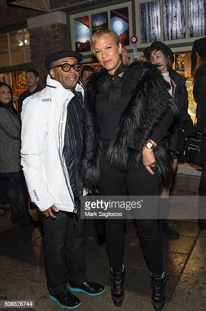 Director Spike Lee and Tonya Lewis Lee are seen around town at the Sundance Film Festival on January 23 2016 in Park City Utah