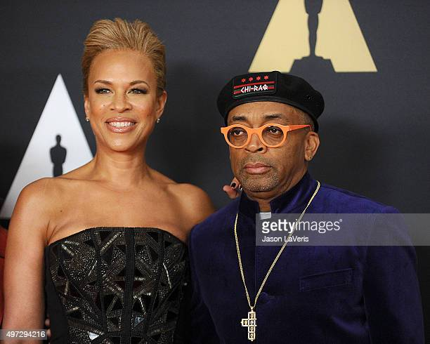 Director Spike Lee and wife Tonya Lewis Lee attend the 7th annual Governors Awards at The Ray Dolby Ballroom at Hollywood Highland Center on November...