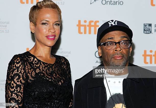 Director Spike Lee and wife Tonya Lewis Lee attend the Bad 25 Premiere during the 2012 Toronto International Film Festival held at the Ryerson...