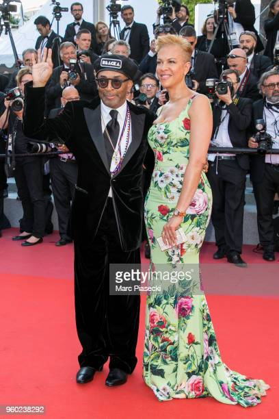 Director Spike Lee and wife Tonya Lewis Lee attend the Closing Ceremony screening of 'The Man Who Killed Don Quixote' during the 71st annual Cannes...