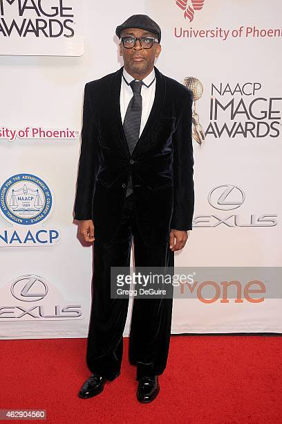 Director Spike Lee arrives at the 46th Annual NAACP Image Awards at the Pasadena Civic Auditorium on February 6 2015 in Pasadena California