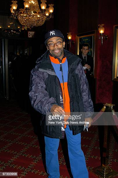 """Director Spike Lee arrives at the Ziegfeld Theater for the world premiere of the film """"The Life Aquatic With Steve Zissou."""""""