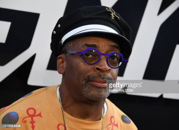 Director Spike Lee arrives for the Premiere Of Focus Features' BlacKkKlansman at the Samuel Goldwyn Theater in Beverly Hills California on August 8...