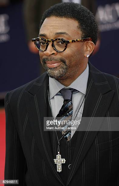 US director Spike Lee arrives for the screening of his movie 'Miracle at St Anna' on September 10 2008 during the 34th US Film Festival in Deauville...