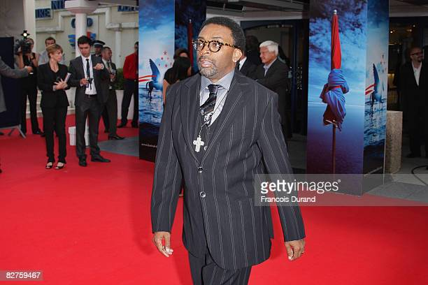 Director Spike Lee arrives to attend the premiere for 'Miracle At St Anna' during the 34th Deauville American Film Festival on September 10 2008 in...
