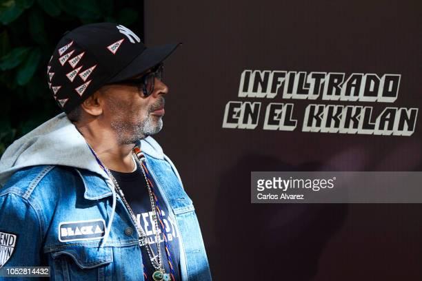 Director Spike Lee attends 'Infiltrados En El KKKlan' photocall at the Villamagna Hotel on October 23 2018 in Madrid Spain