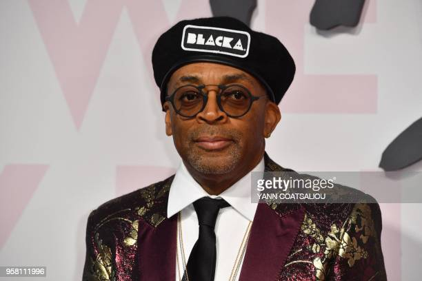 US director Spike Lee attends on May 13 2018 the Fashion For Relief Cannes 2018 event on the sidelines of the 71st edition of the Cannes Film...