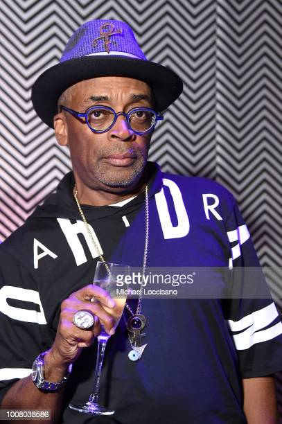 Director Spike Lee attends the after party for the New York premiere of 'BlacKkKlansman' at the BAM Lepercq Space on July 30 2018 in the Brooklyn...