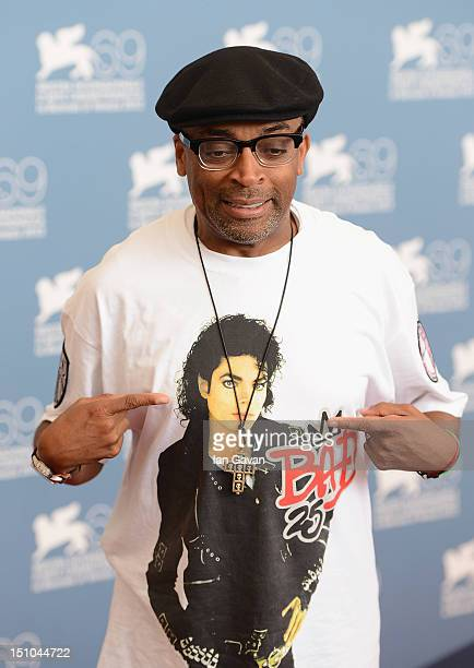 """Director Spike Lee attends the """"Bad 25 And JLC Glory To The Filmmaker 2012 Award"""" photocall at the Palazzo del Casino on August 31, 2012 in Venice,..."""