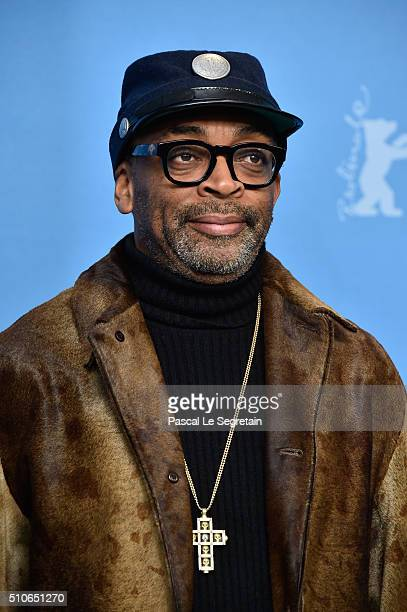 Director Spike Lee attends the 'ChiRaq' photo call during the 66th Berlinale International Film Festival Berlin at Grand Hyatt Hotel on February 16...