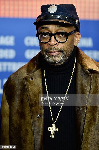 Director Spike Lee attends the 'ChiRaq' press conference during the 66th Berlinale International Film Festival Berlin at Grand Hyatt Hotel on...