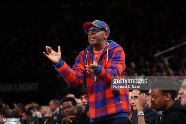 Director Spike Lee attends the LA Clippers game against the New York Knicks on February 8 2017 at Madison Square Garden in New York City New York...