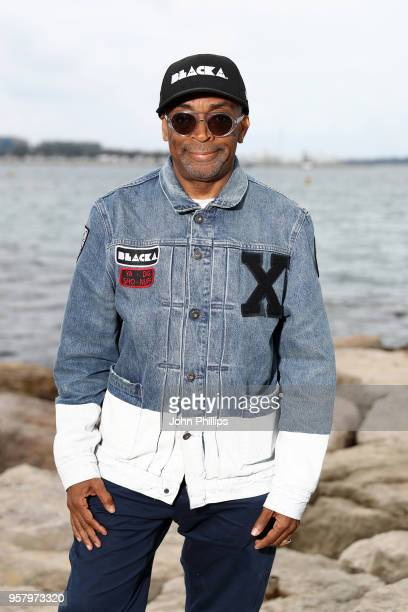Director Spike Lee attends the photocall for The Blackhouse Foundation Host Brunch Honouring Spike Lee Tonya Lewis Lee during the 71st annual Cannes...
