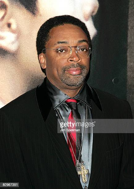 Director Spike Lee attends the premiere of Miracle at St Anna at Ziegfeld Theatre on September 22 2008 in New York City