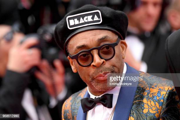Director Spike Lee attends the screening of BlacKkKlansman during the 71st annual Cannes Film Festival at Palais des Festivals on May 14 2018 in...