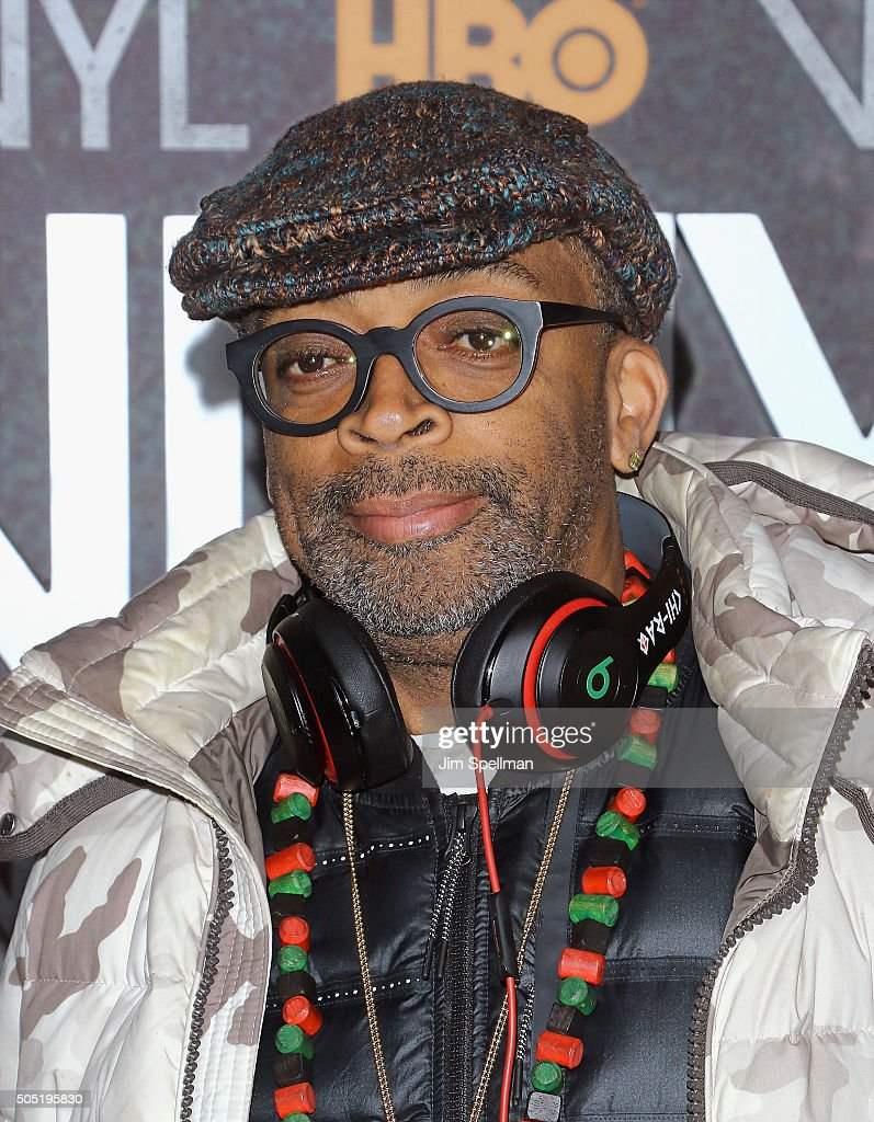Director Spike Lee attends the 'Vinyl' New York premiere at Ziegfeld Theatre on January 15, 2016 in New York City.