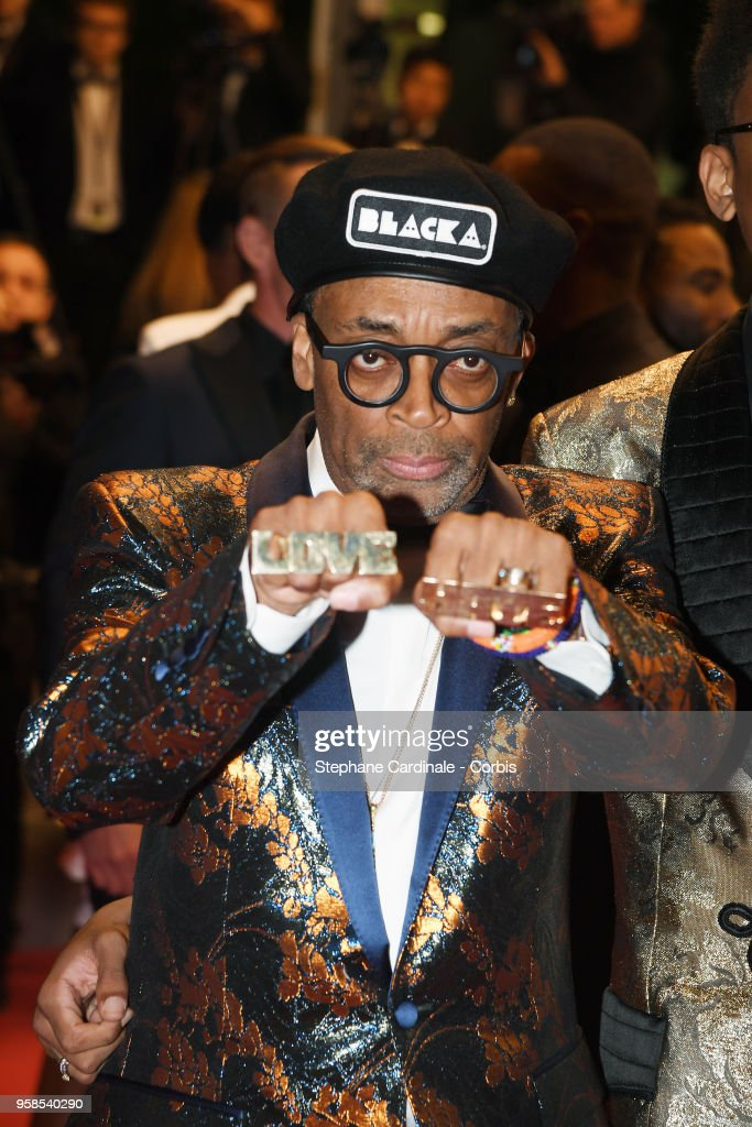 Director Spike Lee departs the screening of 'BlacKkKlansman' during the 71st annual Cannes Film Festival at Palais des Festivals on May 14, 2018 in Cannes, France.
